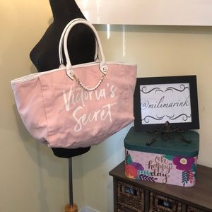 VS Canvas & Leather Handle Weekender/Large Bag